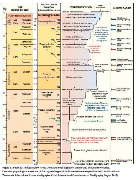 Arctic Cenozoic zonation
