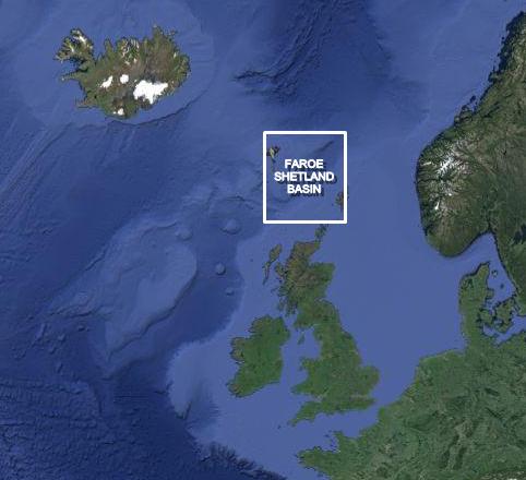 Faroe Shetland map